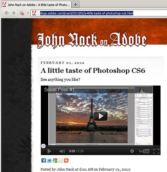 john nack adobe photoshop cs6