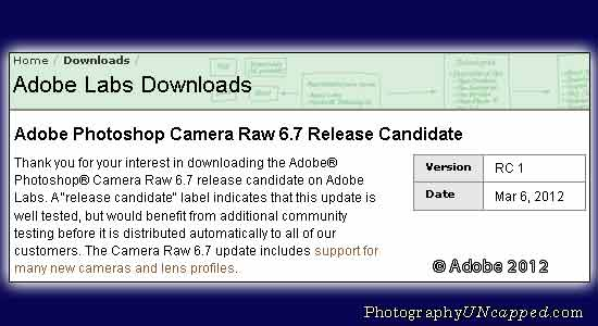 Adobe Photoshop Camera adds support in CS5