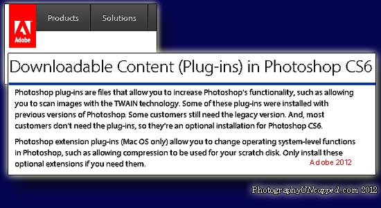 Adobe Photoshop CS6 Plugin Download Content