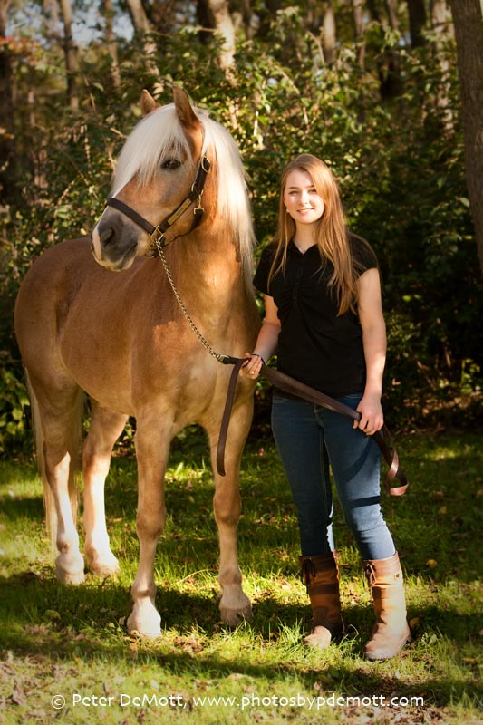 RR3D9851FB Dana and her haflinger (Dayton senior portrait photographer)