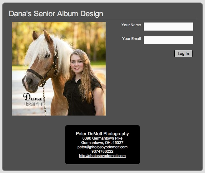 Danas Album Gorgeous Senior Portrait Keepsake Album
