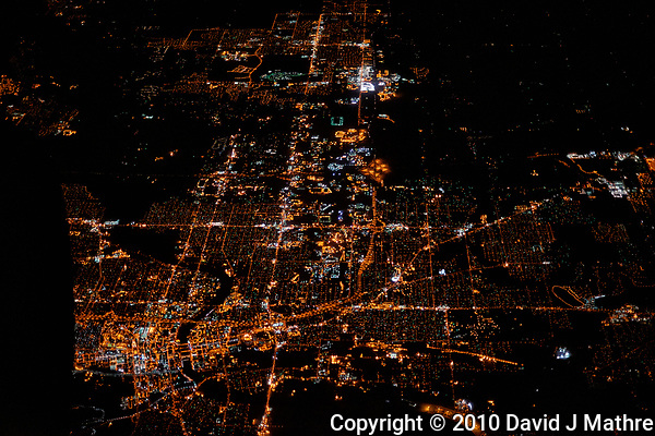 America from the sky. Transcontinental flight from San Francisco to New Jersey. Image taken with a Nikon D3x camera and 50 mm f/1.4 lens  Des Moines, Iowa (David J Mathre)