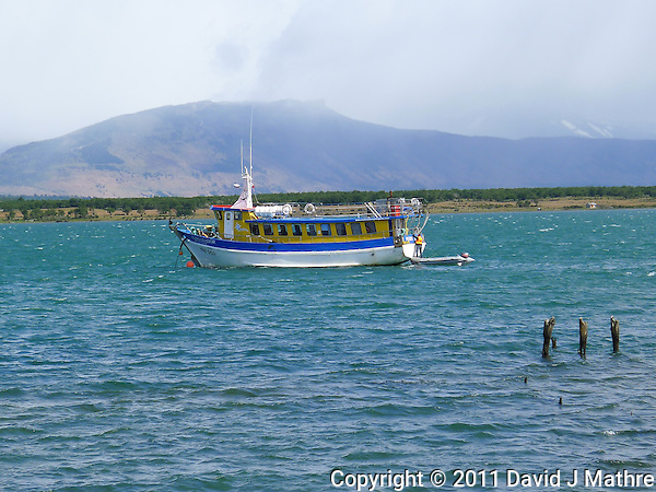 Fishing Boat in Pureto Natales Harbor. Image taken with a Leica D-Lux 5 camera (David J Mathre)