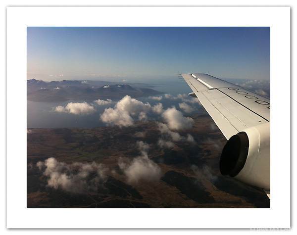 Glasgow to Islay - View of the Isle of Arran - shot with an iPhone 4 (© Ian Mylam)