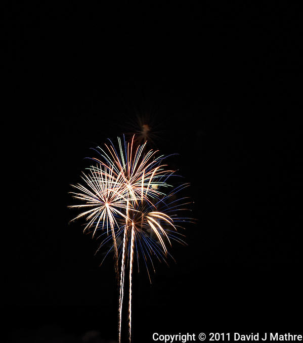 Montgomery Township Independence Day Fireworks 2011. Summer in New Jersey. Image taken with a Nikon D3x and 180 mm f/2.8 lens (ISO 100, 180 mm, f/11, 4 sec). Raw image processed with Capture One Pro 6. (David J Mathre)