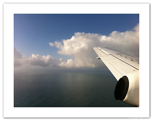 Approach to land on the Isle of Islay, shot with an iPhone 4 (© Ian Mylam)