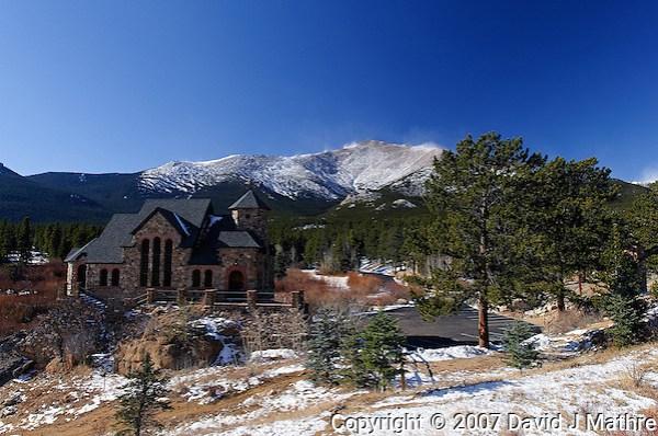 Saint Catherine Chapel and Mt. Meeker, Rocky Mountain National Park. (David J Mathre)