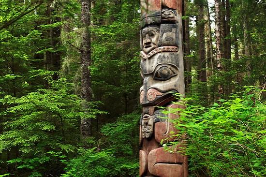 Mosquito Legend Pole, Sitka National Historical Park, Sitka, Alaska, USA (Brad Mitchell)