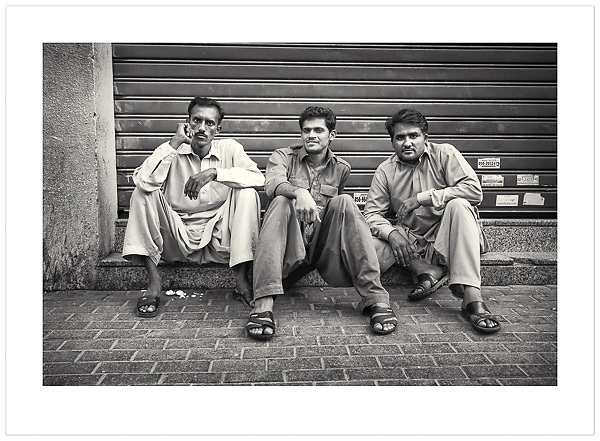 Three Men - Dubai, U.A.E., 2013 (© Ian Mylam)