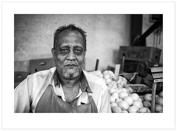 Vegetable Trader -Deira, Dubai, 2013 (© Ian Mylam)