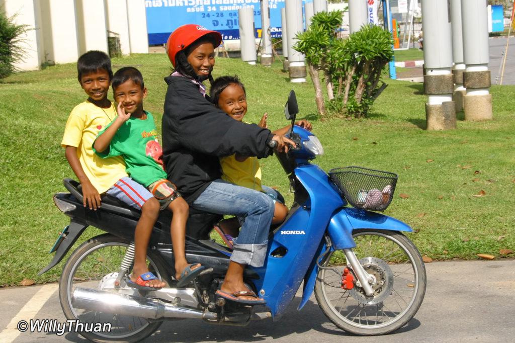 Riding a Motorbike in Phuket