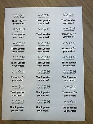 AVON    THANK YOU For Your Order    Labels       0 99   PicClick UK Avon    Thank You For Your Order    Labels