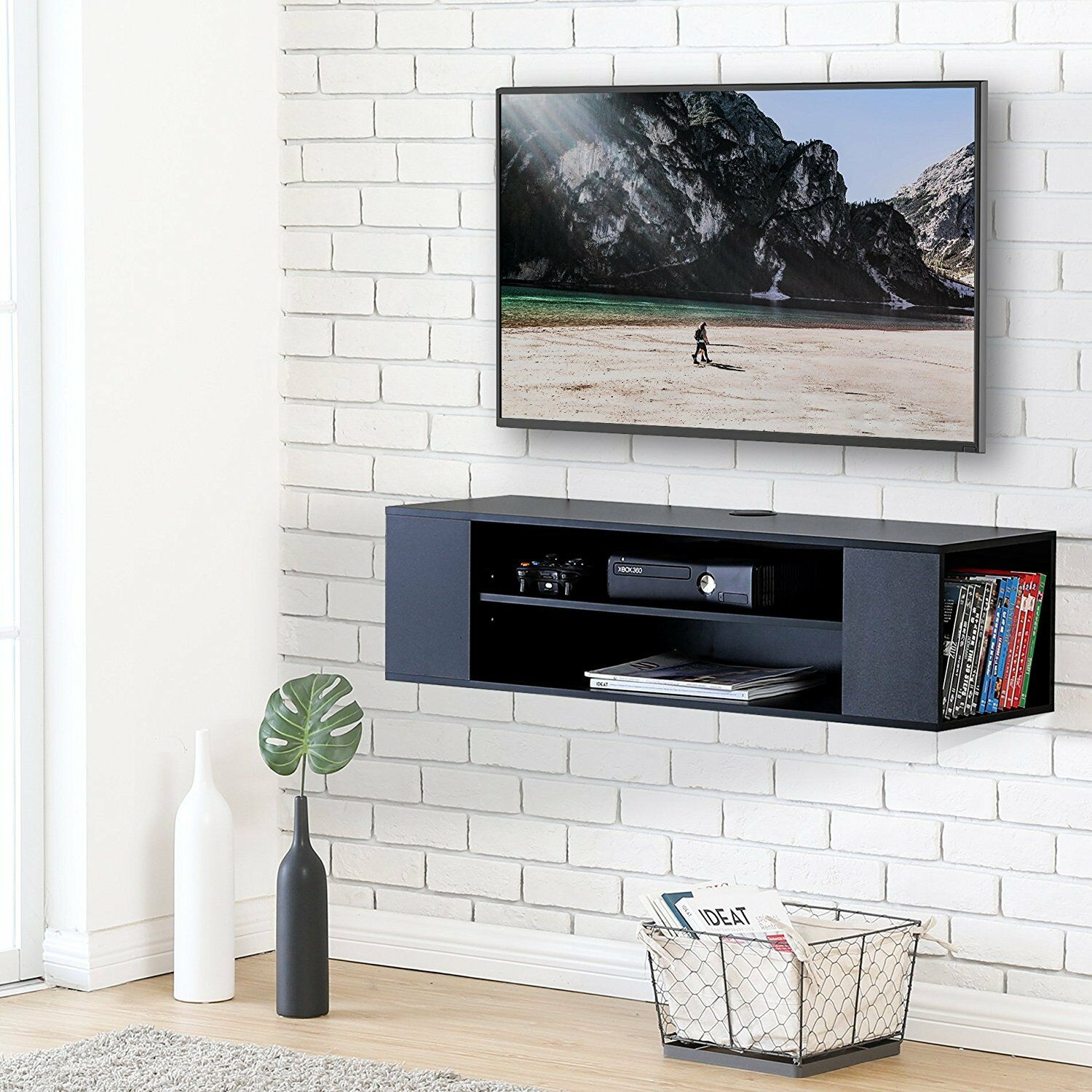 Fullsize Of Wall Mounted Media Console
