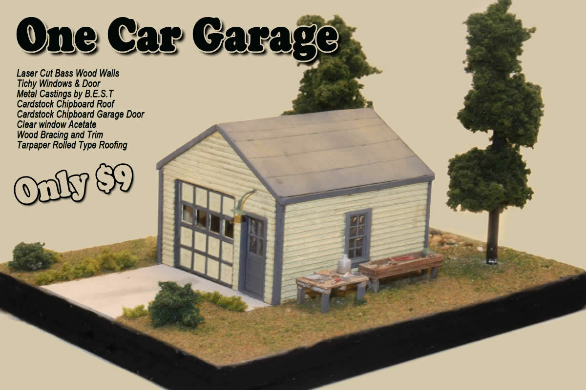 Gracious Of See More One Car By Railroad Kits Ho Scale Craftsman Structure One Car Lyrics One Car Door Opener houzz 01 One Car Garage