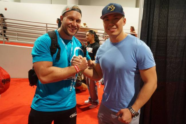 Handshake with Furious Pete At Mr. Olympia