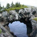 Berry-Head-Arch-Newfoundland,-Canada