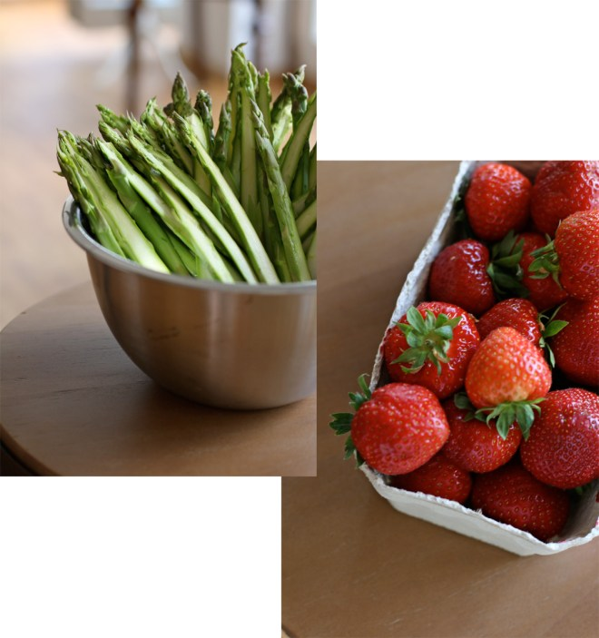 erdbeer spargel salat mit zitronenthymian pieces of mariposa. Black Bedroom Furniture Sets. Home Design Ideas