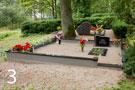 Melna granīta kapu sētiņa ar betona pamatni