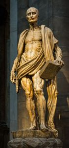 St. Bartholomew was skinned alive to claim that the story was true.