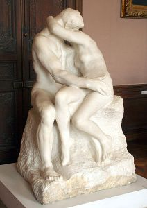 Rodin's The Kiss. Too far.
