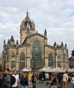 The Protestant (formerly Catholic) Cathedral in Edinburgh. A lovely building but he's not there.