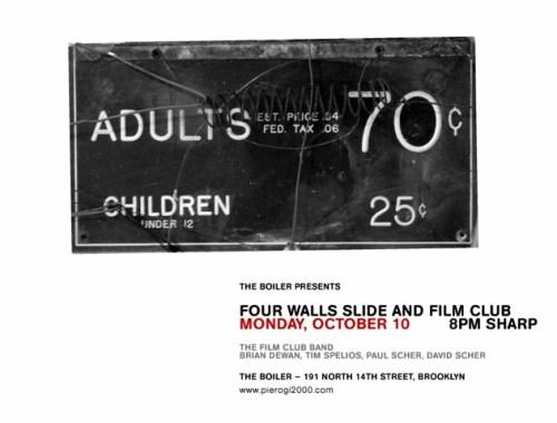Four Walls Slide and Film Club
