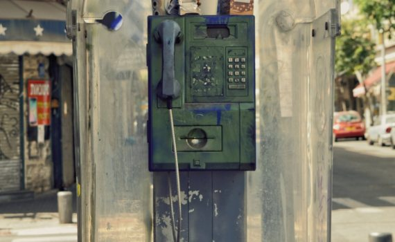Unused public phone