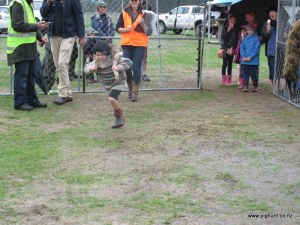 One of the many kids in the carrying comp, this time with a hare