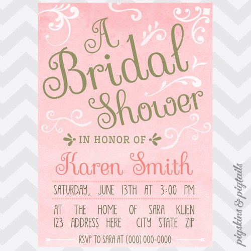 Medium Of Pink And Gold Baby Shower Invitations