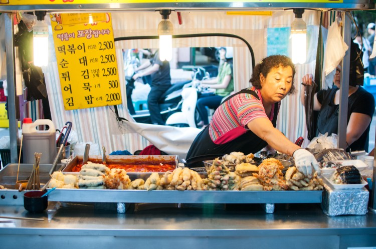 Street food in Seoul Korea