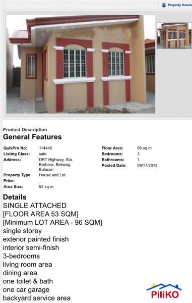 3 bedroom House and Lot for sale in Baliuag - 461358 | Piliko.com