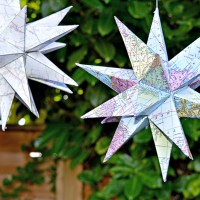 3D Map Star Decorations - Free Printable