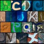Un espectacular abecedario natural visto desde el espacio