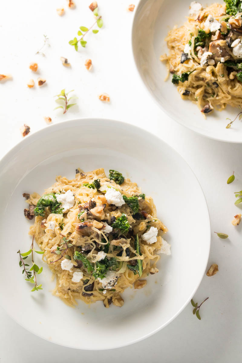 Spaghetti Squash with Nutmeg Cream Sauce
