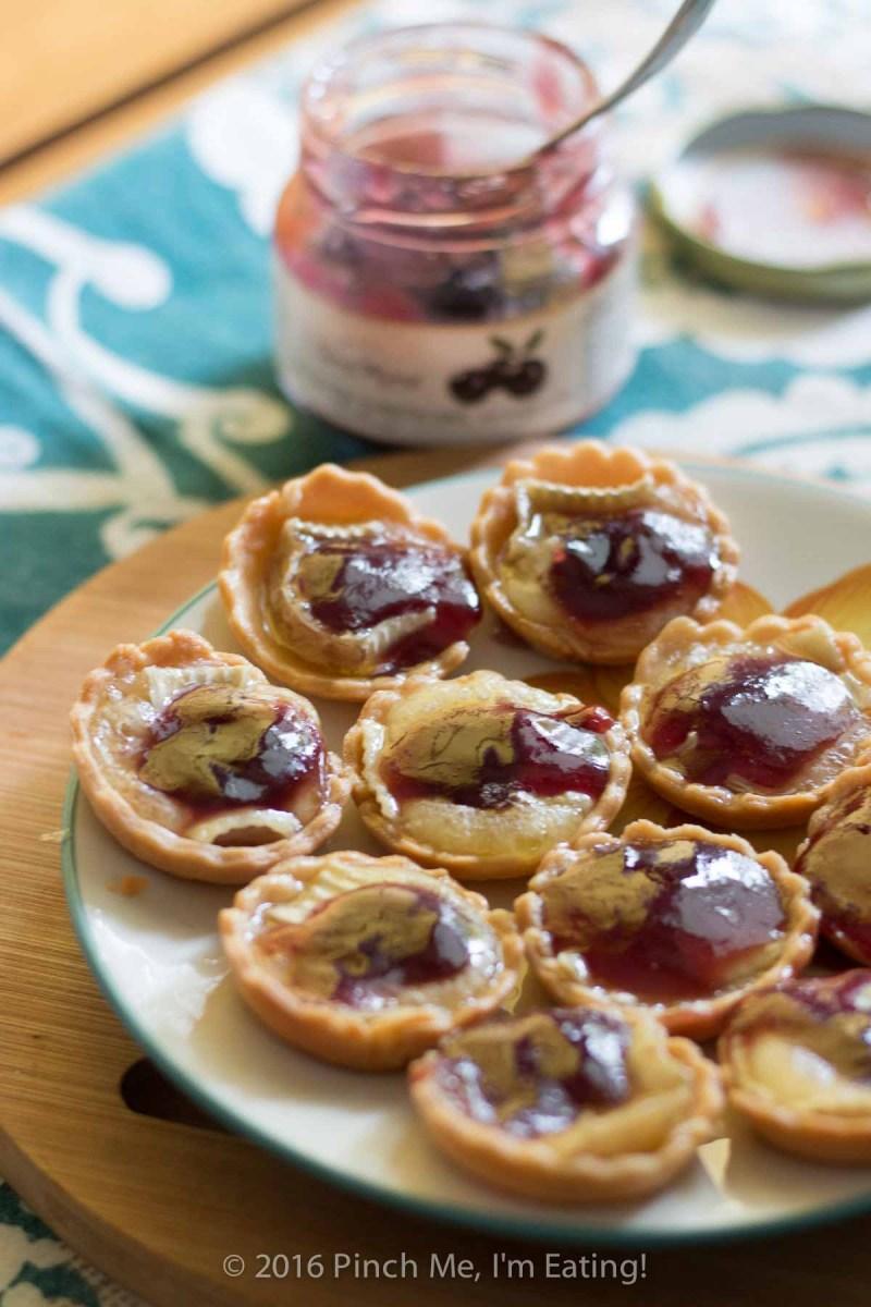 Bite-sized Jabuticaba Jam and Brie Tartlets