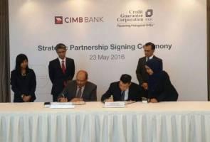 CIMB Bank Berhad menandatangani MOU bersama CGC untuk meningkatkan pembiayaan produk ECL