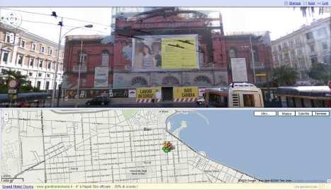 Street View di Google mostra ancora i lavori di ri-costruzione