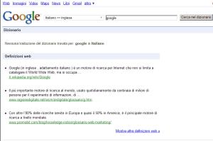 Google definisce Google