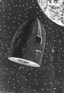 Illustrazione di Alphonse de Neuville per il libro di Verne Dalla terra alla luna