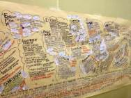 """Il """"muro nomade"""" di Fedele Congedo, con il cloud delle idee di BeMyApp"""