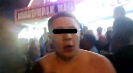 L'uomo arrestato a Wildwood, immortalato dai Google Glass