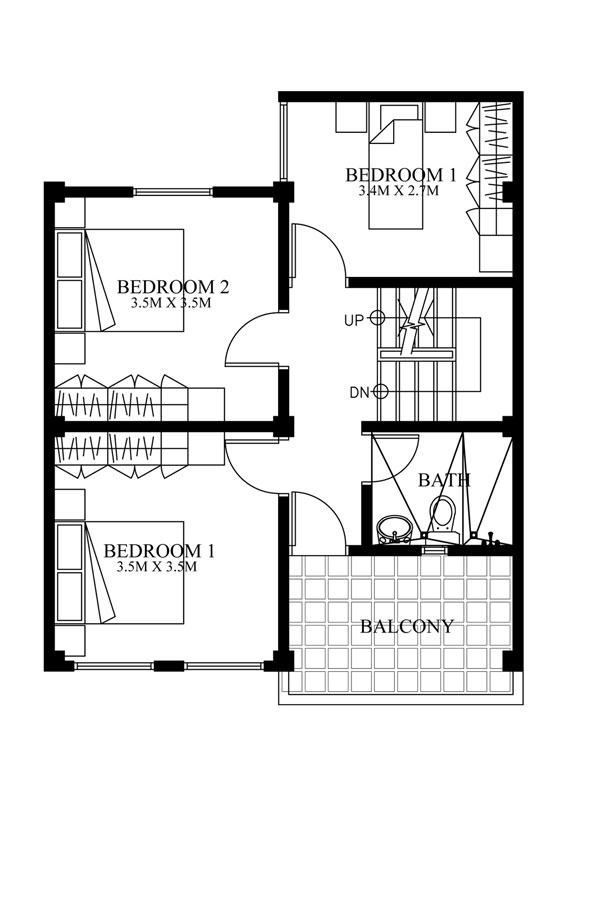 Modern house designs series mhd 2012007 pinoy eplans for Second floor design plans