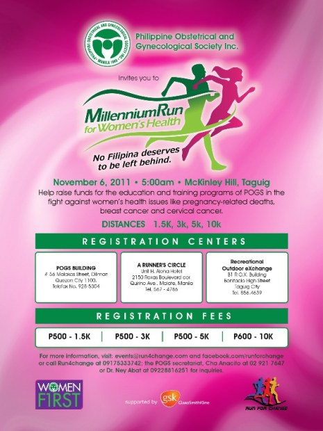 millenium-run-for-womens-health-2011-poster