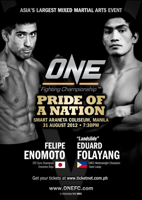 FELIPE VS EDUARD ONE FC Poster 2012