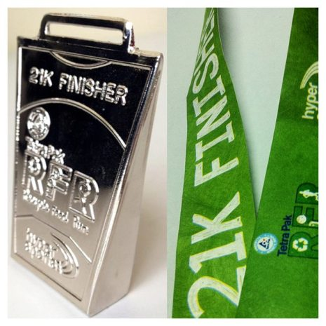 21K Finisher&#039;s Medal - tetrapak