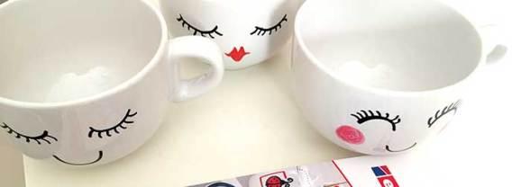Divertidas Tazas Personalizadas Pintadas a Mano