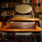 A 19th century printing press found in the Watzek Library Special Collection.  JORDAN ST. PETER/ PIONEER LOG