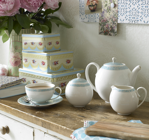 Lucille Teal 04 Tea story, Denby for Monsoon Home