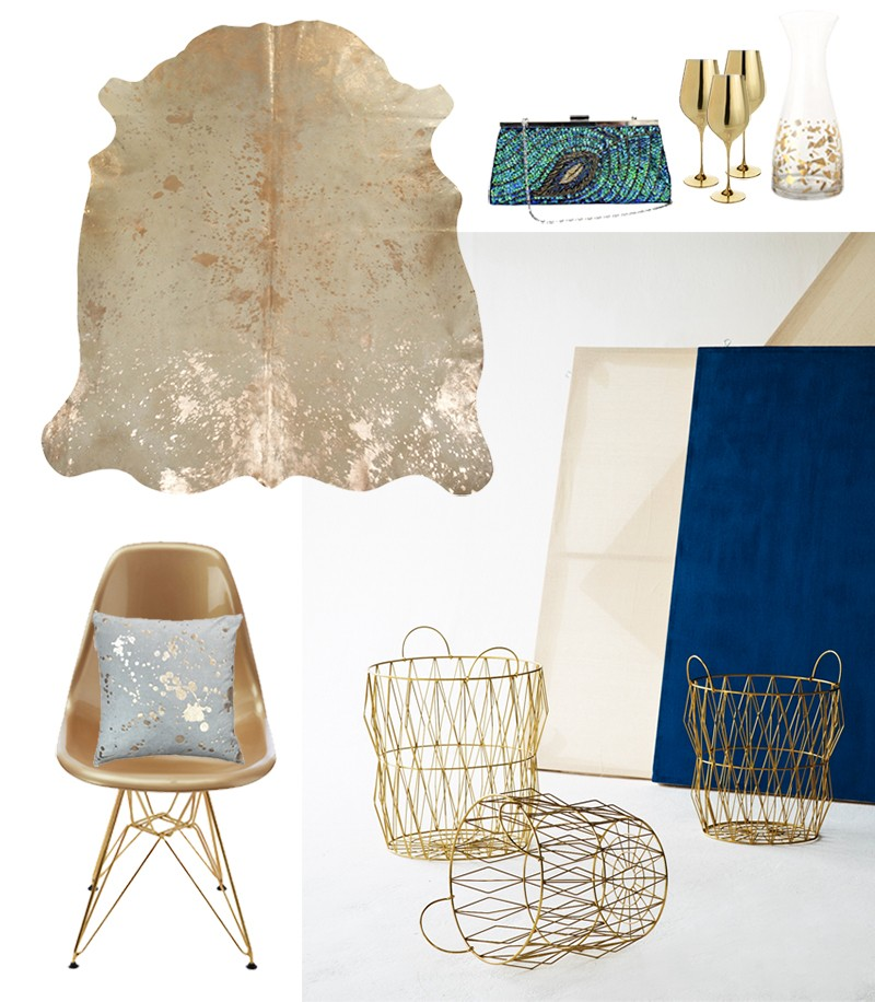 Trend watch: All that Glistens and Fluro Folk. Metallic interior trends for 2016 and 2017 by Pippa Jameson.