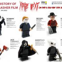 You're Next Infographic - The History Of The Slasher Film...in Lego